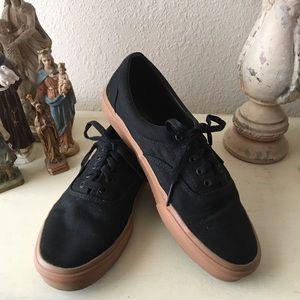 Mens Black Canvas Vans Sneakers